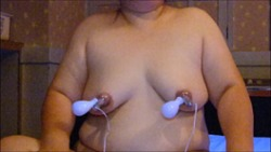 Massage the breasts V.