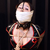 TM2 Submissive Japanese Girl Tamiko Bound and Gaggaed in PVC Outfits Part2