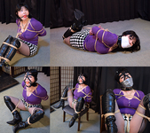 AI5-8 Busty Japanese Girl Ai Bound in Purple Sweater FULL