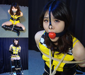 HK27 Japanese Race Queen Hiroko Bound and Gagged Outtakes