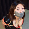 TM1-6 Submissive Japanese Girl Tamiko Bound and Gagged in PVC Outfits FULL