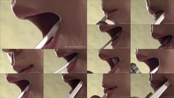 (Taken from the outside) to be toothbrush [Fetish: mouth, lips, tongue and saliva and Vero and saliva and tooth-up video]